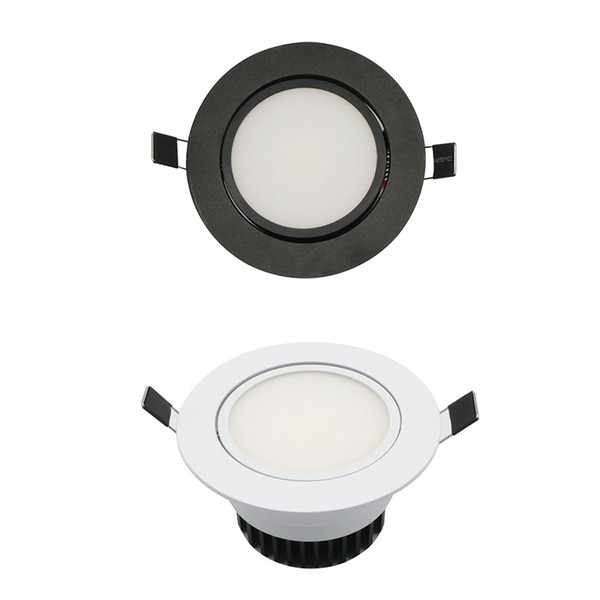 top popular LED COB Downlight AC85-265V 9W Recessed LED Spot Light Lumination Indoor Decoration Ceiling Lamp Black Silver 2019