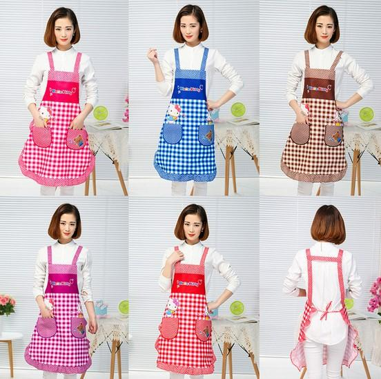 1PC Korean Lovely Cute Waterproof Apron Kitchen Accessories House Cleaning House Keeping Anti Dust pinafore Pastry Tools LB 413