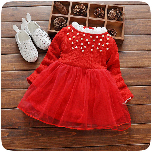 2018 Wholesale Baby Princess Dress Baby Girl Christmas Dresses Long