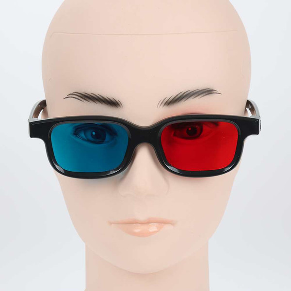 Wholesale- Universale Red Blue 3D Dimensional Glasses for 3D DVD Home Theater Movie Cinema Game Projector