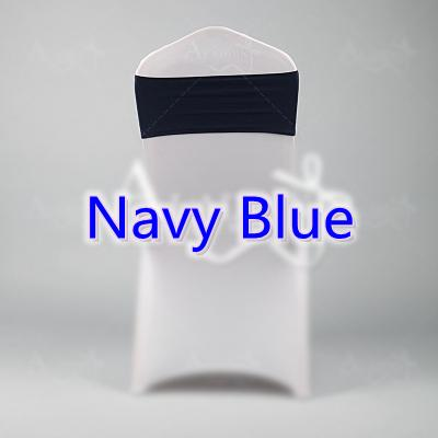 Navy blue colour spandex sashes lycra sash for chair cover spandex bands bow tie For Wedding Decoration banquet design for sale