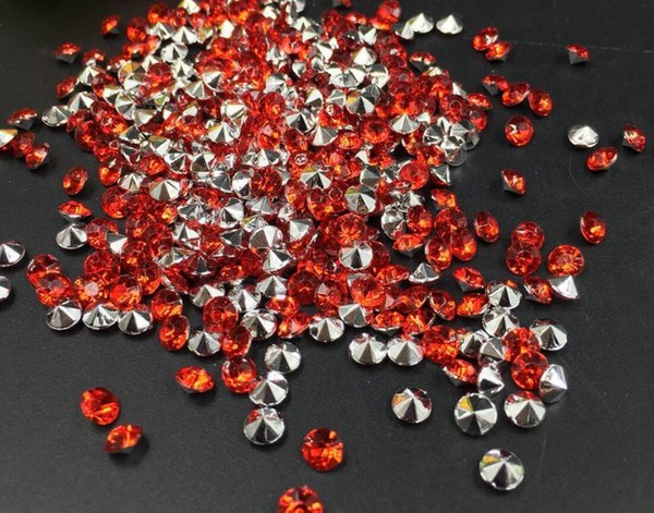 10000pcs 4mm Red Acrylic Diamond Confetti Wedding Party Table Scatters Crystal Decoration