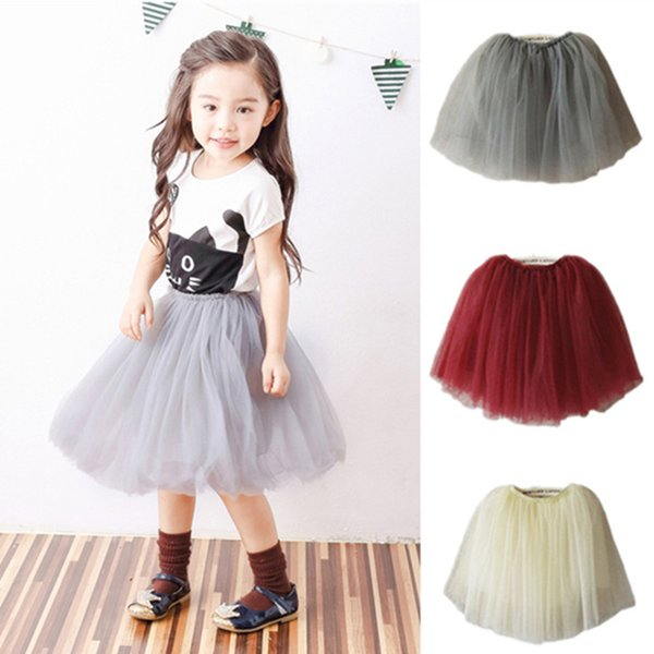 2017 Girls Lace Tulle TUTU Skirts Children Baby Princess Fashion Skirt Clothing