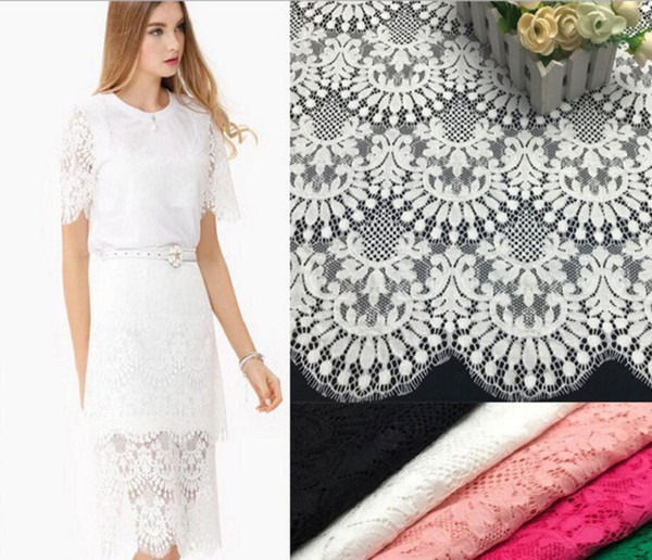 140*114cm Hollow Flower Tassel Lace Cloth Guipure Lace Fabric For Apparel Sewing Wedding dress Diy Doll