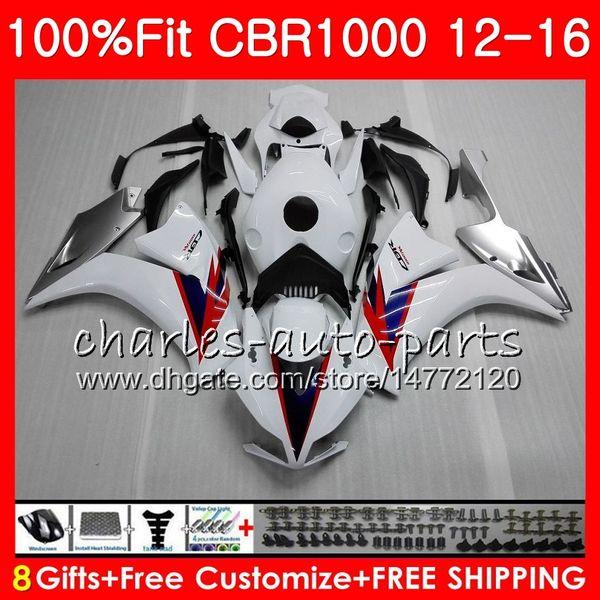 gloss white Injection Body For HONDA CBR 1000 RR CBR1000RR 12 13 14 15 16 88NO23 CBR 1000RR CBR1000 RR 2012 2013 2014 2015 2016 Fairing kit