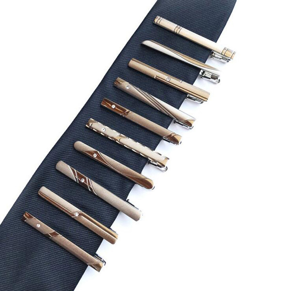 top popular High Quality Fashion Men Tie Clip Silver Tone Metal Clamp Jewelry For Business Man Suit Necktie Tie Clip Wedding Party Accessories 2021