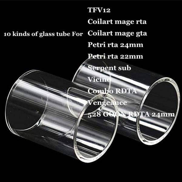 TFV12 Coilart mage RTA GTA Petri 22mm 24mm Serpent sous Vicino Combo RDTA Vengeance 528 GOON Remplacement Tube de Verre Pyrex