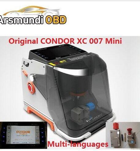 2017new good CONDOR Mini XC 007 auto Key Cutting Machine CONDOR XC007 in Portuguese/Spanish/French/Germany/Russian better Slica key machine