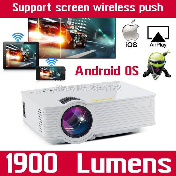 Wholesale-BT140 Android Wifi Mini Full HD 1080P Portable USB Home Theater Pico LCD LED Video 3D Projector Projetor Proyector For Iphone