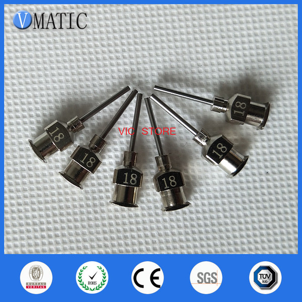 VC-A1148 0.5 inch Tip Length 18G All Metal Tips Blunt Stainless Steel 12PCS Glue Dispensing Needles