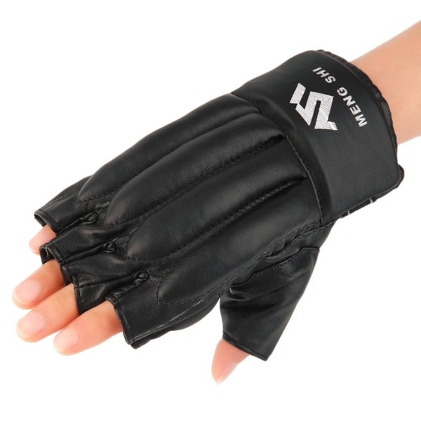 Mitts Half Finger Fitness Boxing Gloves Punch Bag Training Equipment Hot Selling Boxing Hand Protective Gear Black Color