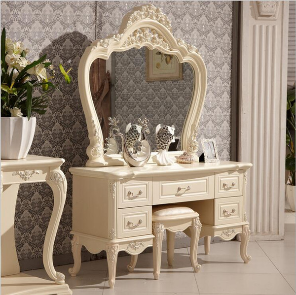 2019 Factory Price RoyalEuropean Mirror Table Modern Bedroom Dresser French  Furniture White French Dressing Table P10140 From Tengtank, $562.82 | ...