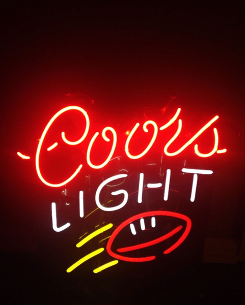 New Coors Light Football Beer Bar Neon Light Sign 24x20 001