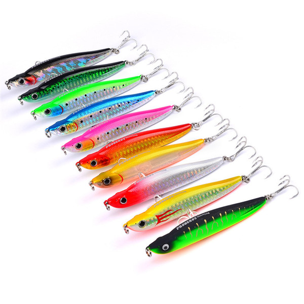 2017 High Quality Pencil Saltwater Crankbaits Fishing Lures 10colors 10cm 15g PROBEROS style Wobbler fishing bait fishing tackle