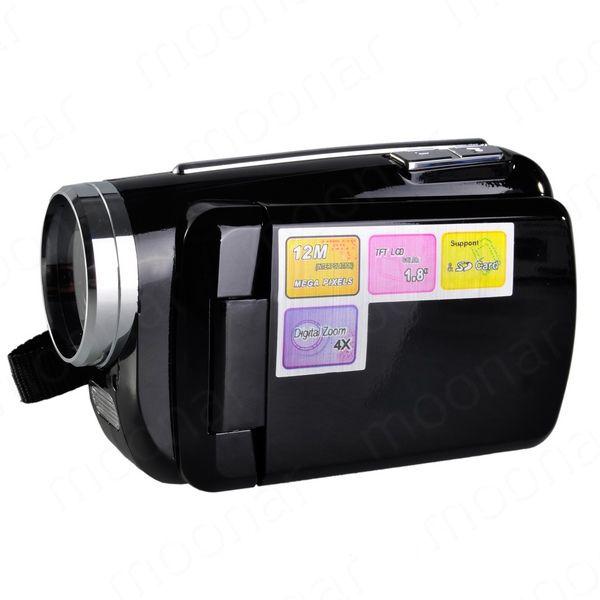 Wholesale- Mini DV 1.8 inch D1 Pcs Camera 4 x Digital Zoom 12 Mega pixel TFT LCD Camcorder with Hand Grip Black/Red LS