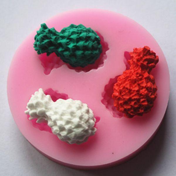 Mini Cake Mould DIY Chocolates Ice Cream Silicone Pineapple Mold Household Kitchen Baking Tools Non Toxic 1 5sn C R