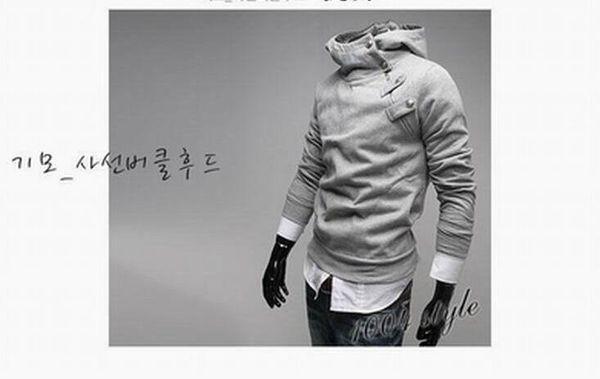 Frete grátis - o estilo dos homens com capuz de lã assassins creed estilo dos homens casaco preto M - 3 xl