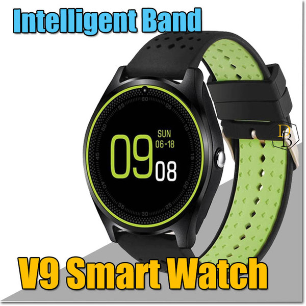 V9 Smart Watch Bluetooth Bracelet Sport Pedometer Handfree For Android Iphone Smart Band Support Cellphone Wireless SIM Card Sleep Reminder