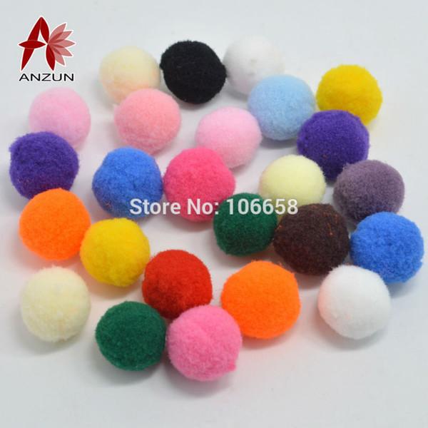 Toptan-20mm 100 adet karışık renk ponpon topları Ev Dekoratif Çiçek El Sanatları diy Oyuncak aksesuarları Kafa çelenkler Konfeksiyon aksesuarları