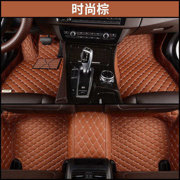 SCOT All Weather Leather Floor Mats for Nissan Rogue,Waterproof Anti-slip 3D Front & Rear Carpets Custom Fits-Black Right-Hand-Driver-Model