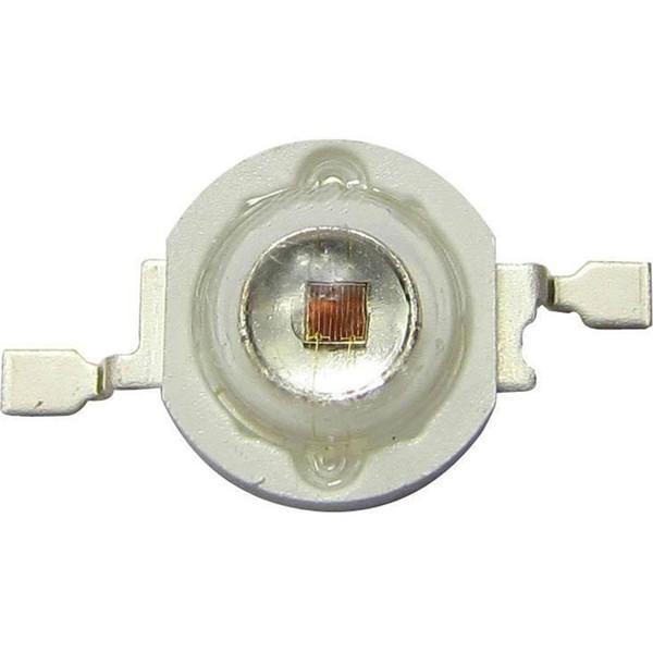 Wholesale- 100pcs 3W 42mil Bright Red 620nm LED Beads Plant grow Light Part input DC 2.4V 600mA