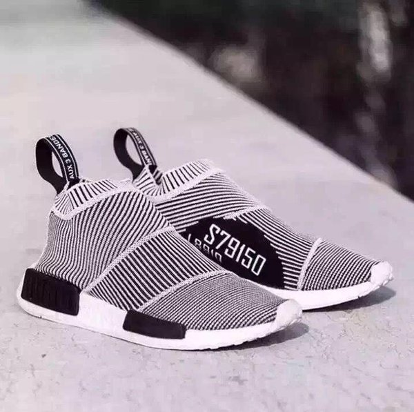 the best attitude bdd61 8b6eb Hot Sale New S79150 2017 NMD GLOW IN DARK NMD City Sock Runner Primeknit R1  Black White Stripes Men Women Fashion Running Shoes Sneakers Moccasins ...