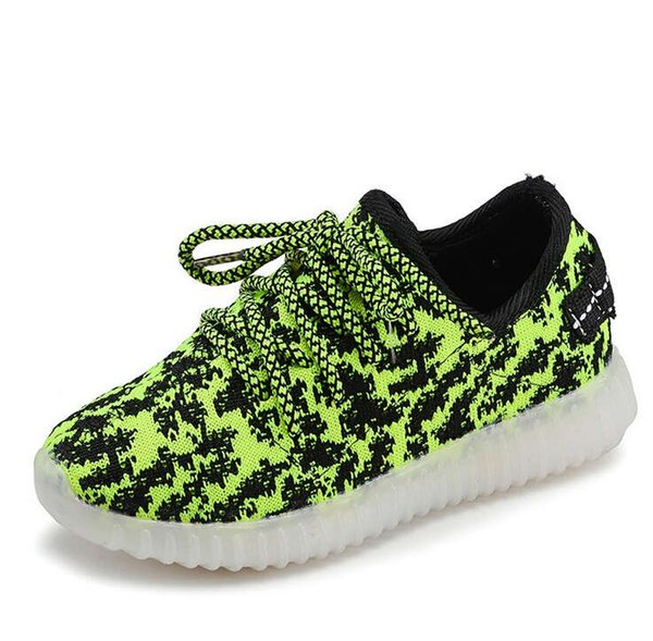 Children LED light shoes children sports shoes fashion on cartoon baby shoe manufacturers wholesal