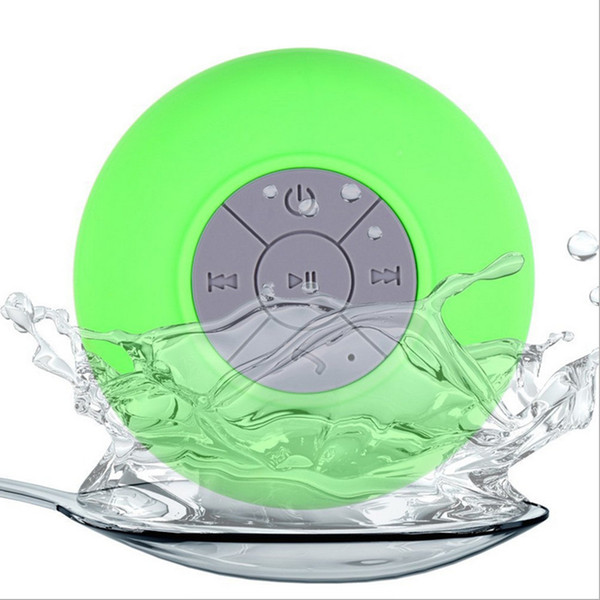 Wholesale- Portable Bathroom Subwoofer Shower Speaker Waterproof Wireless Bluetooth Speaker Handsfree Receive Call Music Suction With MIC