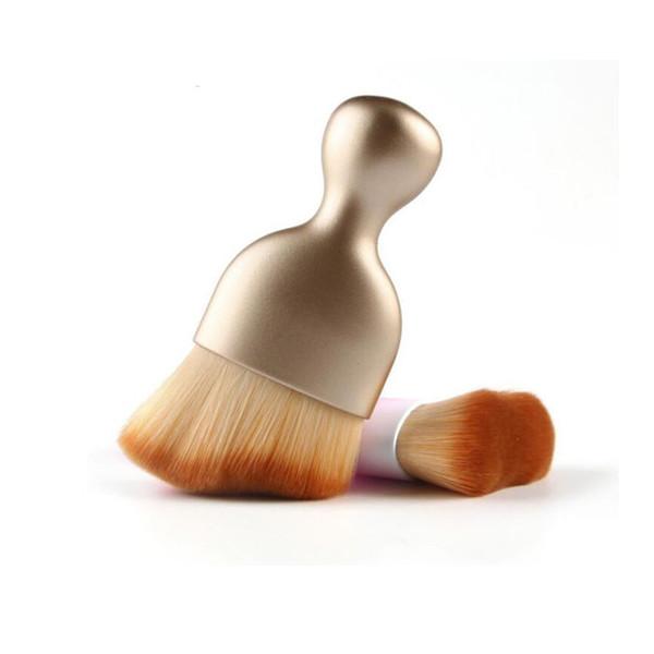 جديدة متعددة الأغراض متموجة S الشكل ماكياج فرشاة الأساس الوجه كونتور تظليل مسحوق فرشاة مزج المكياج أداة الجمال لون ذهبي