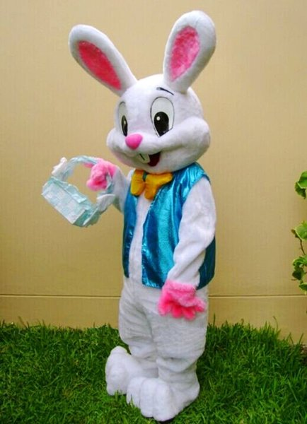 2019 Factory sale hot PROFESSIONAL EASTER BUNNY MASCOT COSTUME Bugs Rabbit Hare Adult Fancy Dress Cartoon Suit