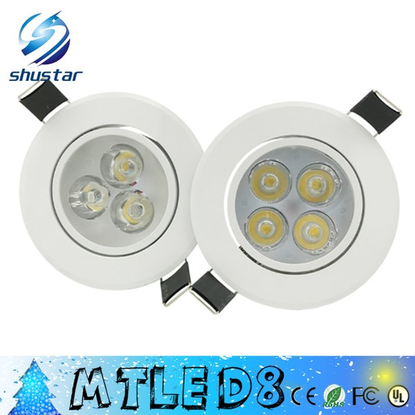 best selling X50PCS White body led Dimmable 9W 12W Led DownLights High Power Led Downlights Recessed Ceiling Lights CRI>85 AC 110-240V With Power Supply