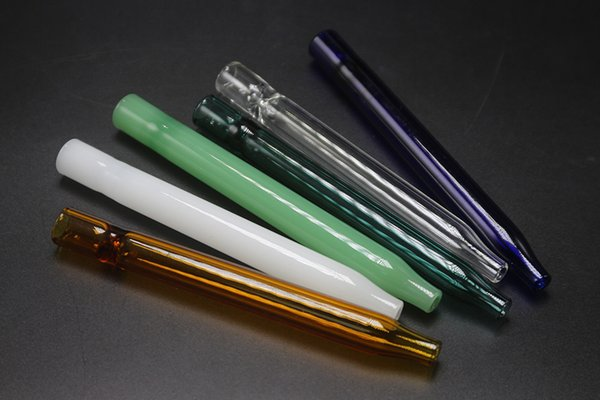 """Wholesale 4.6"""" Inch Pyrex Glass Filter Oil Burners Pipes With Different Colored Balancer Water Pipe Smoking Pipes Bubbler Pipe"""