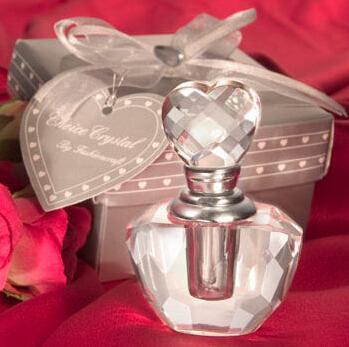 (100 unids / lote) Favores de la ducha nupcial K9-crystal Perfume Crystal Botella Perfume Regalo del regalo de la fiesta del favor de la boda para el huésped + ENVÍO GRATIS