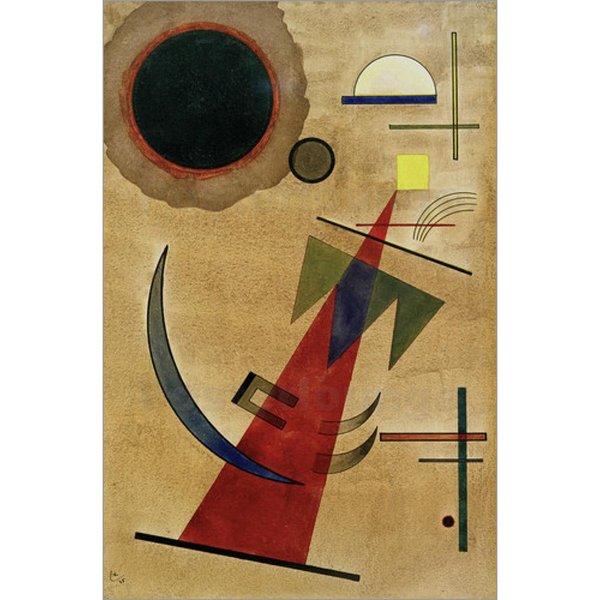 Modern sanat Wassily Kandinsky tarafından Sivri Kırmızı Şekil resimlerinde tuval Yüksek kaliteli el-boyalı