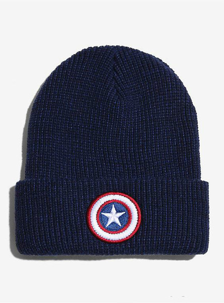 2016 new foreign trade Europe America Captain America star flag fall winter warm wool hat knitted hat hedging valgus soft