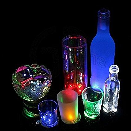 best selling LED Coaster Flashing Light Bulb Bottle Hookah Led Light Mat Cup Mat Colorful Light Up For Club Bar Home Party
