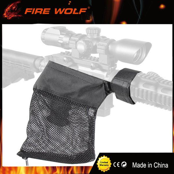 FIRE WOLF AR-15 Ammo Brass Shell Catcher Malla Trampa Cierre con cremallera para descarga rápida Nylon Mesh Negro Envío gratis