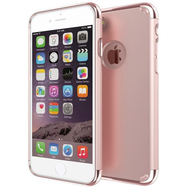 Pour iphone placage 3 et 1 manchon de protection épissage créatif cas de téléphone portable pc étui apple iphone 7 plus 6s plus 5s / se