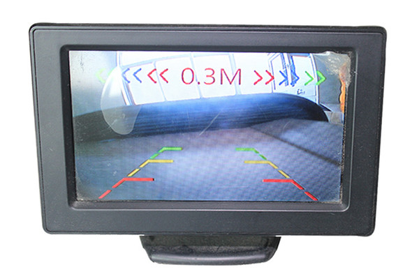 Car Camera With Sensor PZ450 1/3CMOS High-Definition Image Chip 2 In 1 Video Parking Sensor IP67 Waterproof Lens HD Rearview DC12V EMS