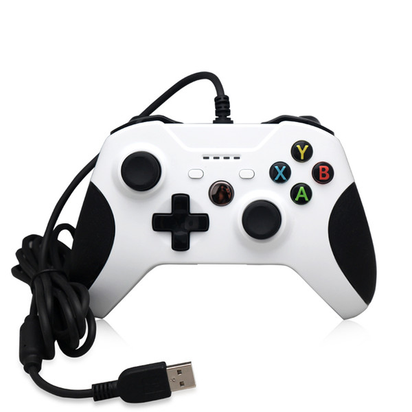Cheap 20pcs Game Controller Gamepad USB Wired Game Control PC Joypad Joystick Accessory For Xbox One Slim S Game Controller Laptop Computer