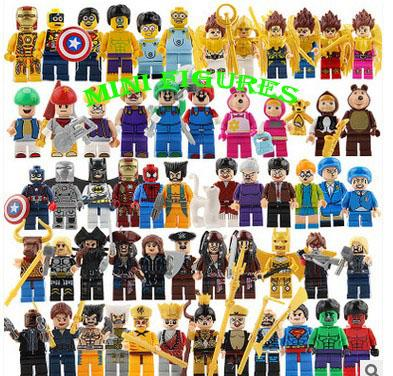 top popular 500 pcs lot small figures For Individually Single Sale Marvel Super Heroes Super Mario Building Blocks Model Bricks Toys 2019