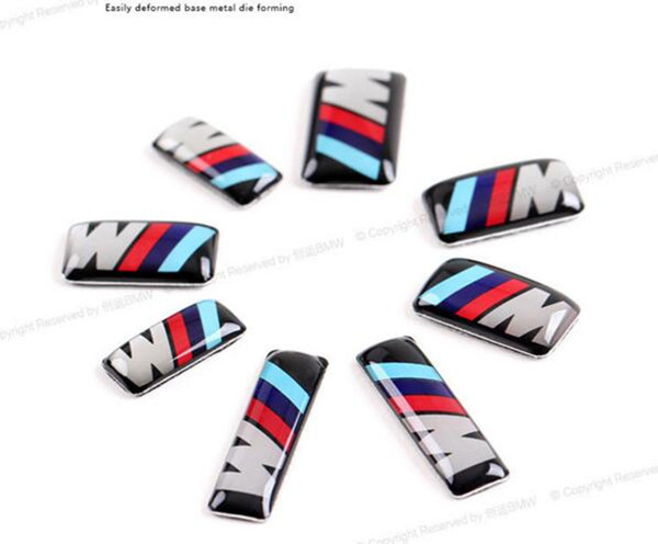 For Steering Wheel, Car Body StickerMpower ///M Wheel Badge 3D Emblem Self-Adhesive Sticker Decals For bmw M Series M1 M3 M5 M6