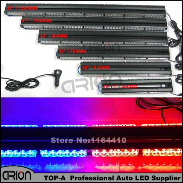 Hot Sale 196 LED Work Light Bar Flash Strobe Emergency Warning Lights Beacons Flashing Lighting Lamp Red&Blue Color