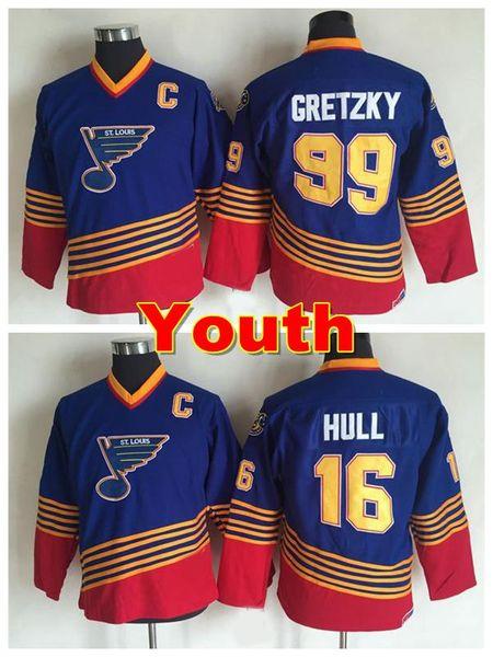481e4bb85d6 youth st. louis blues jerseys throwback 99 wayne gretzky jersey boys 16  brett hull jerseys