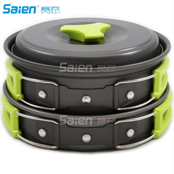 Batterie de cuisine de camping Kit mess extérieur Randonnée pédestre Bug vitesse Sac Out Équipement de cuisson 10 pces durables Pot Bols Pan