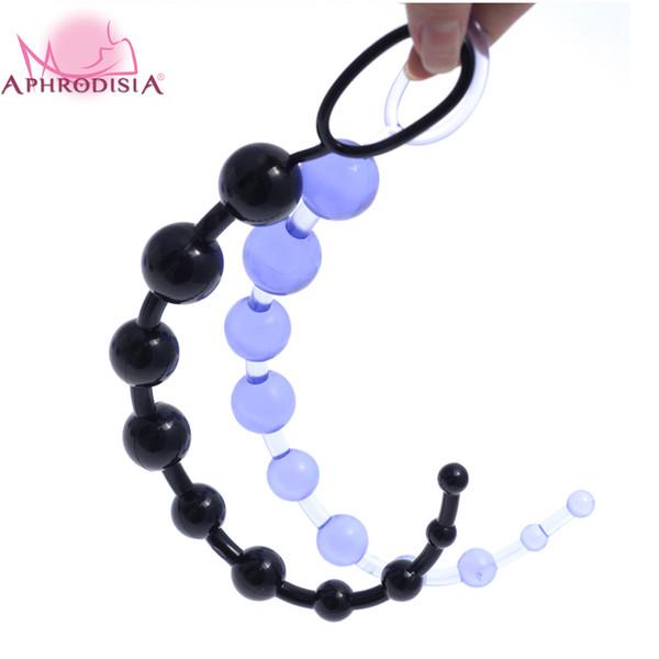 13 pulgadas Oriental Jelly Anal Beads para principiante, estimulador anal flexible Butt Beads, mejores juguetes sexuales anales para hombres y mujeres