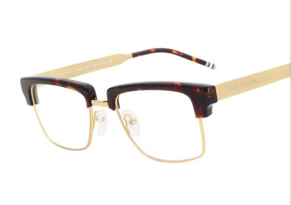 2017 new TB-901 glass frame male restoring ancient ways round box flat mirror frames myopia framework free shipping