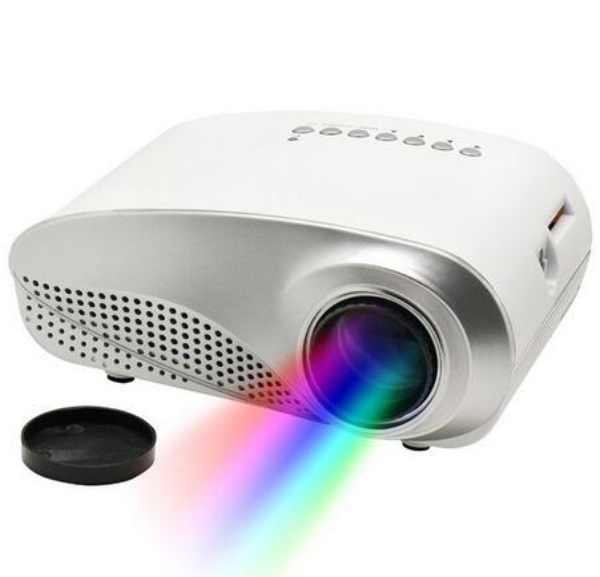 China RD802 Mini Portable LED Projector Beamer Cinema VGA TV USB HDMI AV LCD Proyector For Video Games TV Home Theater Movie VS RD805