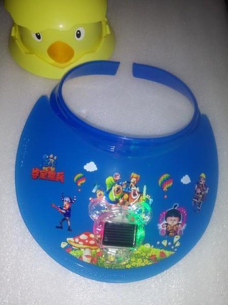 The explosion of hot air top cap visor with fan cap cartoon children's sunscreen solar fan cap