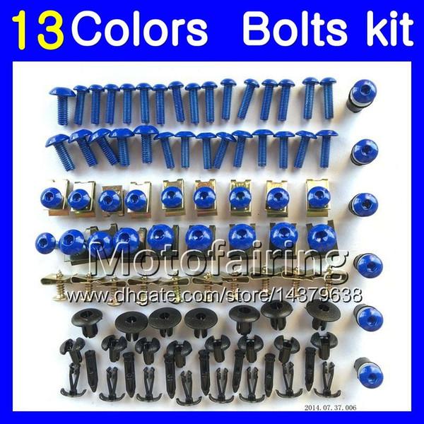 Kit de pernos de carenado completo para SUZUKI GSXR600 GSXR750 06 07 GSXR 600 750 K6 GSX R600 R750 2006 2007 Kit de tornillos de tuerca de tuerca de cuerpo 13Colors